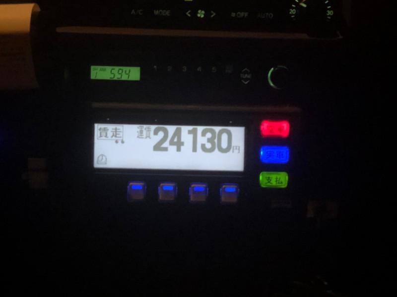 成田と羽田を間違えてタクシーに乗った時のタクシーメーター4