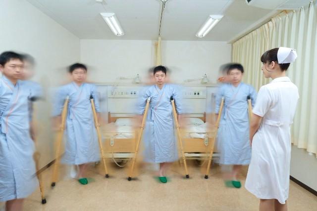 ストレスで分身してしまった治験入院者のイメージ図